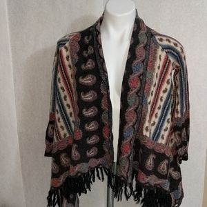 Anthropologie Guinevere shawl w/sleeves Sz S